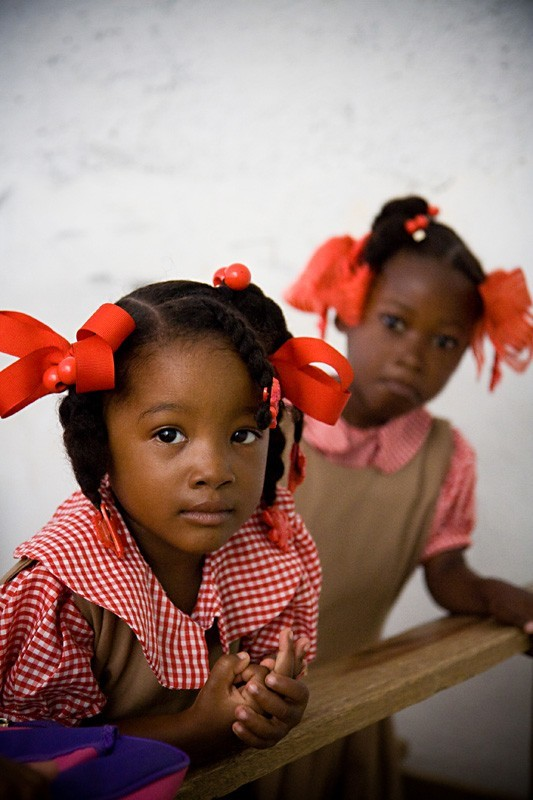 Haiti school girls
