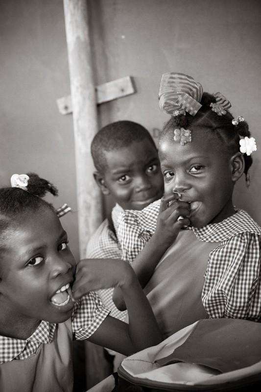 Haitian school girls