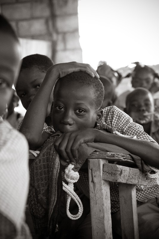 Haitian school boy