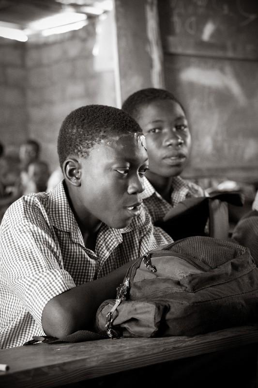 Haitian school boys