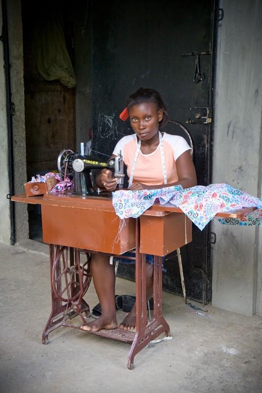 haitian school uniform worker