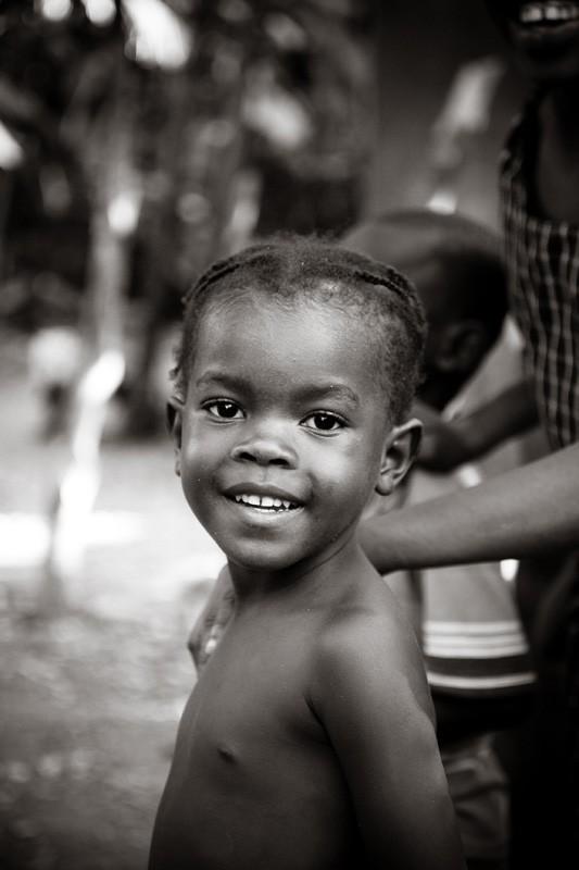 Haitian kids rural