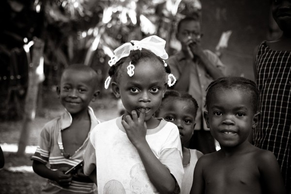 Haitian children rural