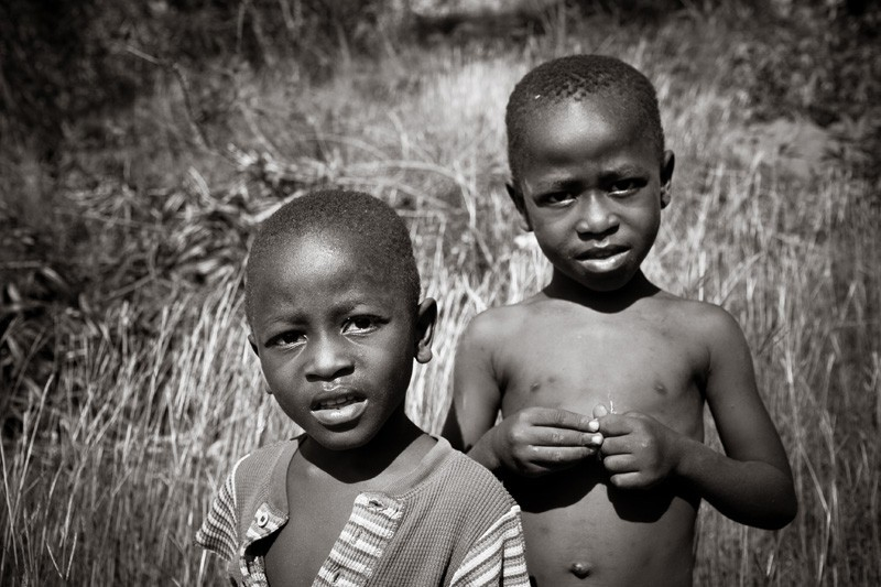 haitian boys living in the mountains