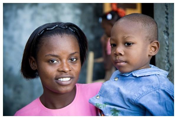 haiti woman child