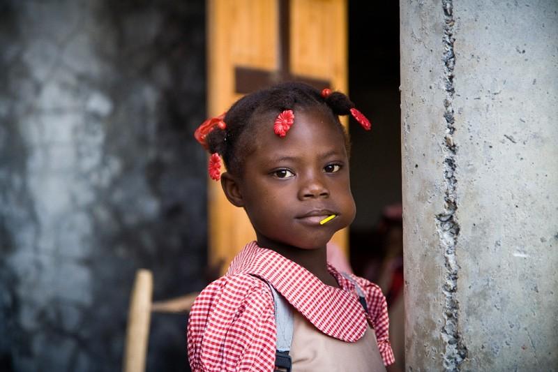haiti school girl