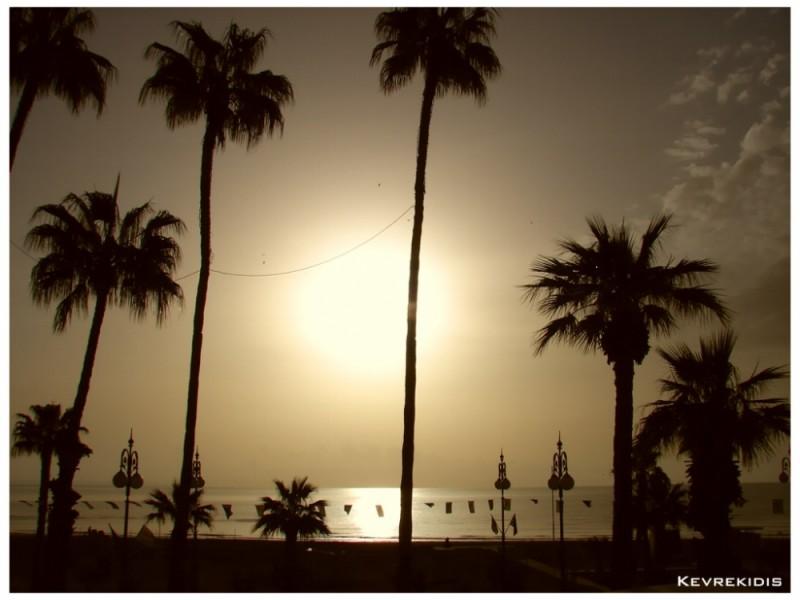 Phinikoudes Beach Larnaca - Cyprus
