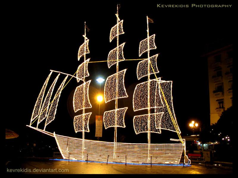 Aristotelous Square, Thessaloniki. Christmas.