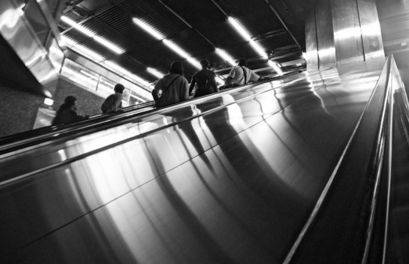escalator escalateur metro subway