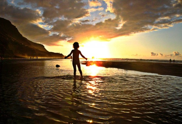 sunset coucher de soleil child enfant