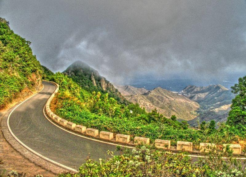 tenerife landscape paysage road route vent