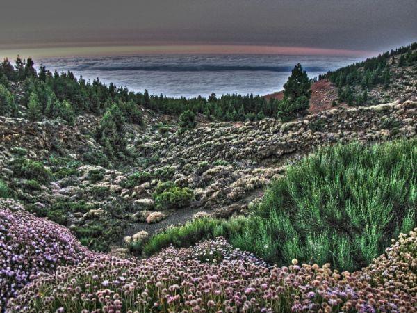 Tenerife landscape cloud paysage nuages volcan