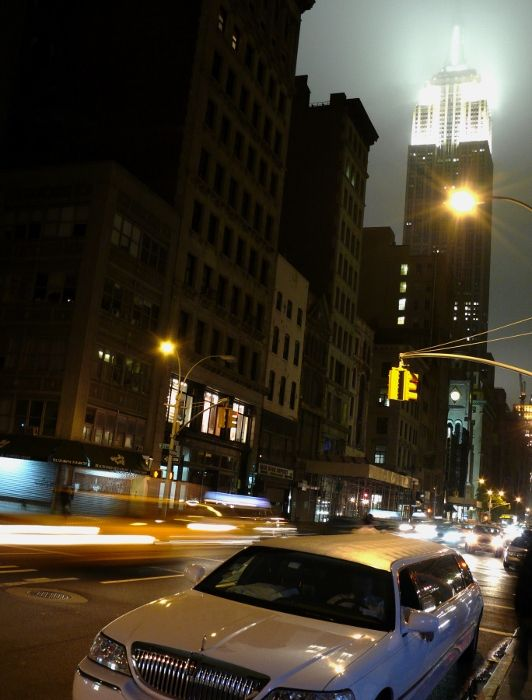 New York empire state building night