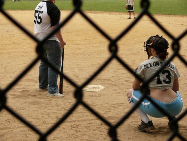New York central park people sport baseball