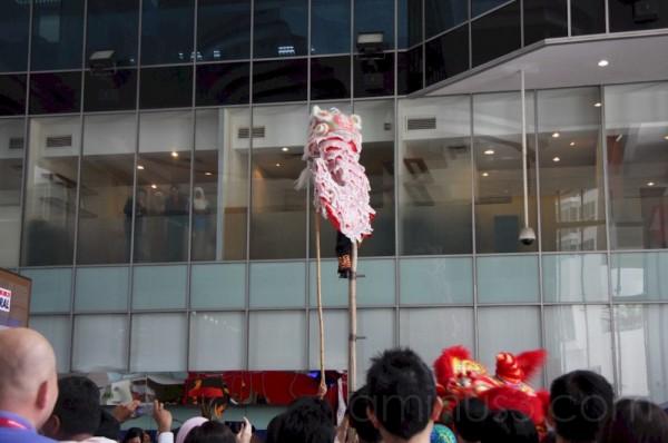 lion dance at plaza sentral