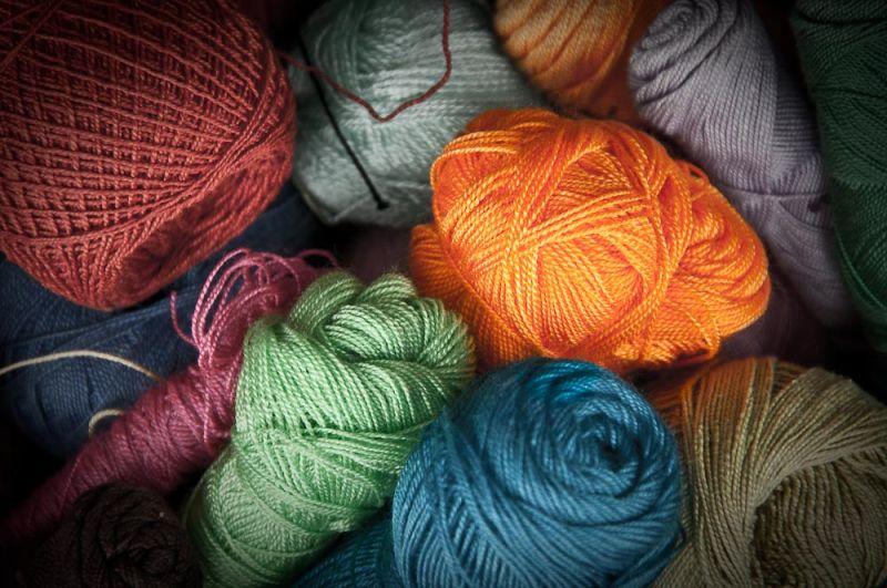 Tangerine Ball of Yarn
