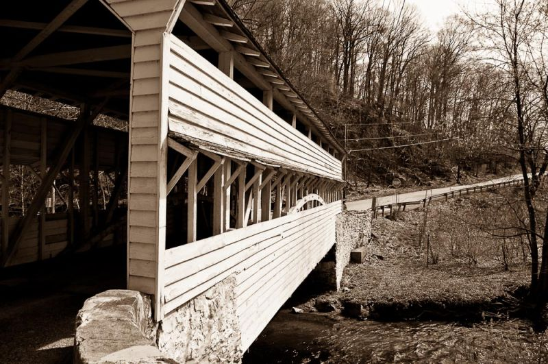 Covered Bridge Abstract