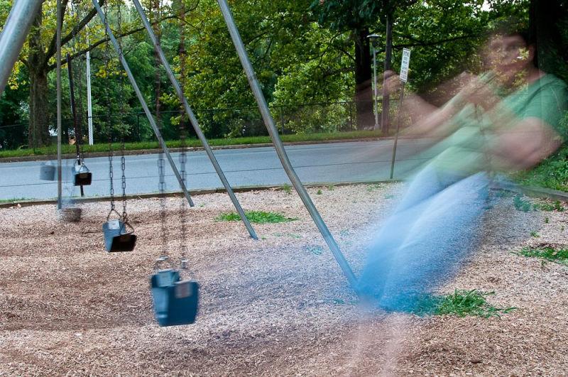 Me swinging....
