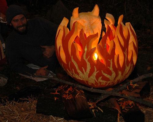 Pumpkin on Fire
