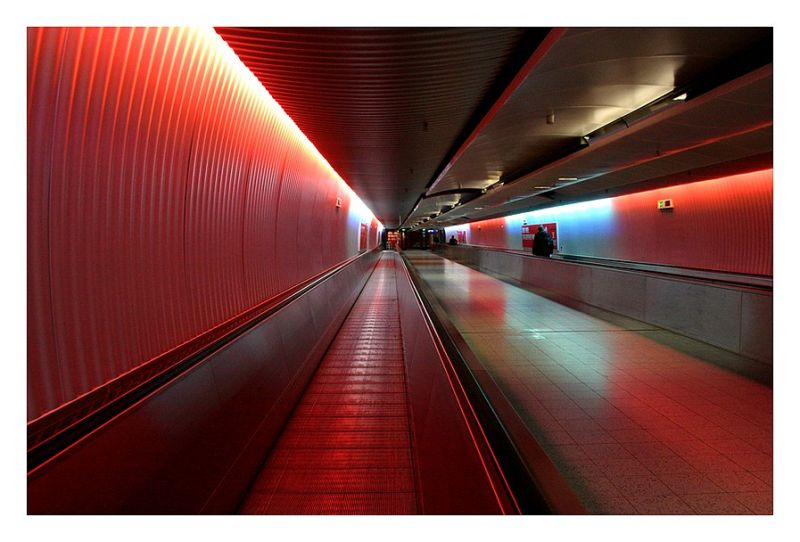 airport, tunnel