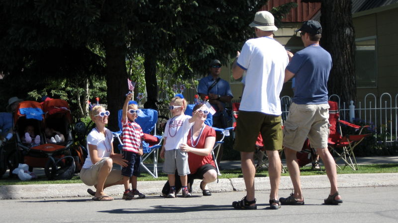 Kids celebrating 4th of July