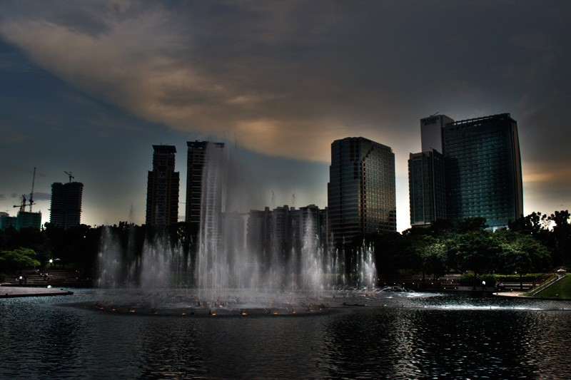 KLCC park at dawn
