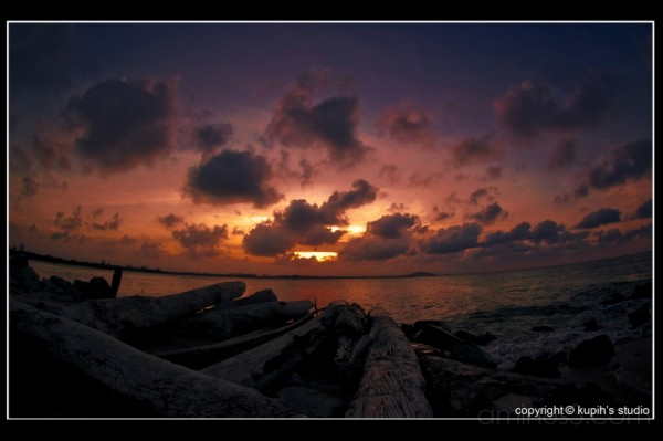Sea Sun Waves Sunset Kupih Nikon Fisheye Landscape