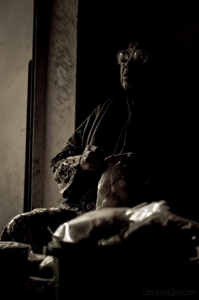 Kupih Terengganu Pasar Payang Malaysia Old Woman