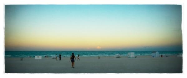 miami beach at dusk ii