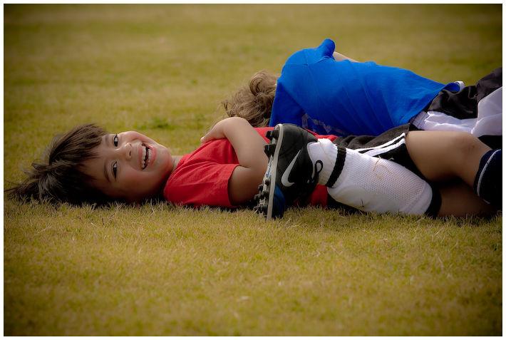 tackling is more fun than kicking the ball
