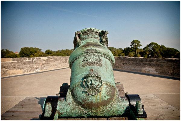 cannon at Castillo De San Marcos
