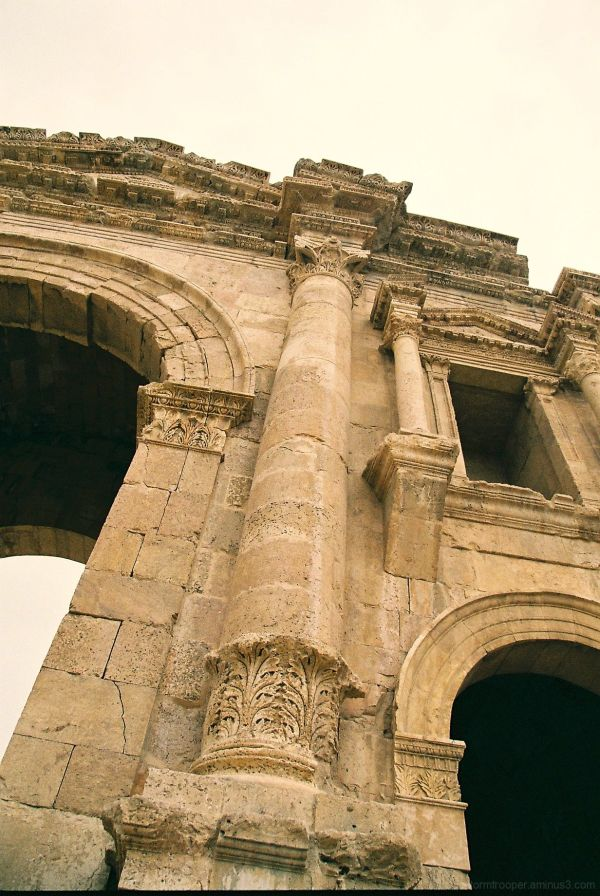 Arc Entrance Roman Ruins Jerash Jordan