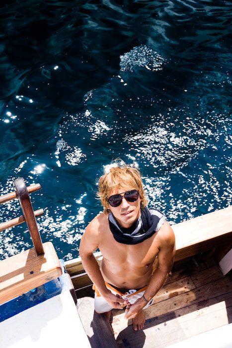 albert, man, boat, yacht, komodo islands, blue oce