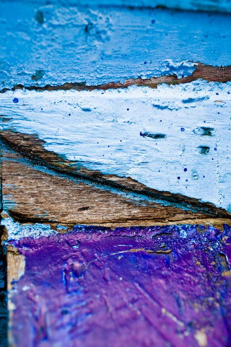 colored boat, fishing, blue, purple, abstract, col