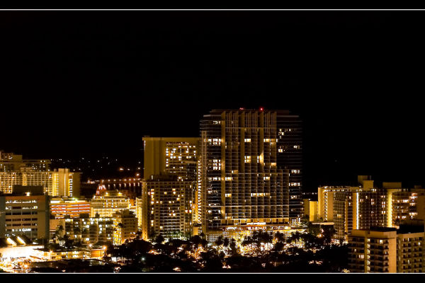 night time in waikiki