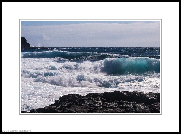 waves and lava at makapu'u point
