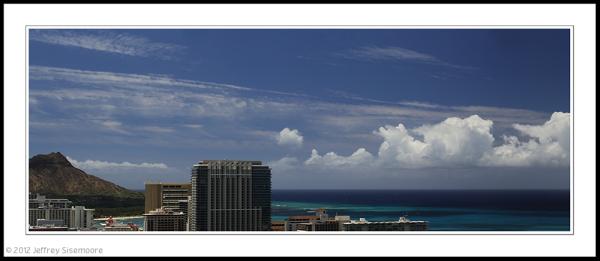 waikiki / pacific ocean panorama