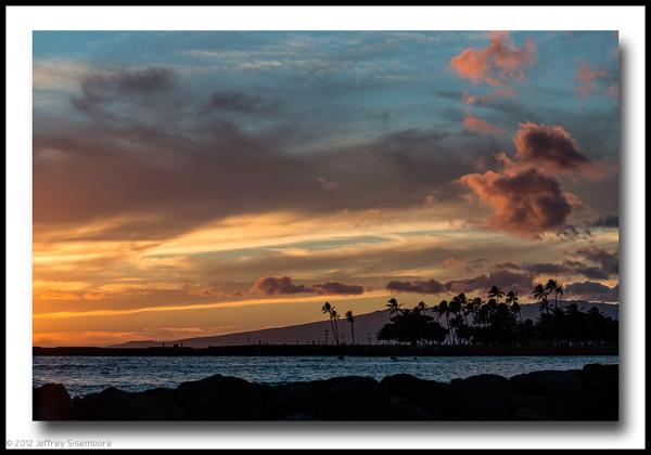 silhouettes of magic island