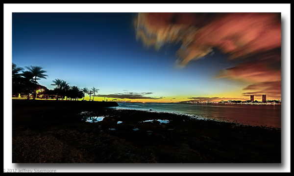 sunset in honolulu II