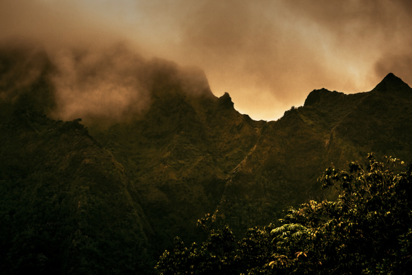 the ko'olau mountains as seen from kailua