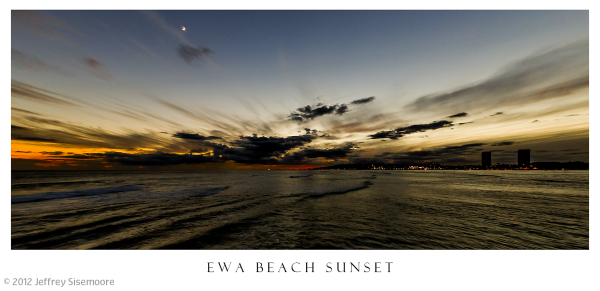ewa beach sunset