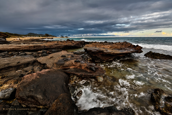 sandy beach lava and ocean II