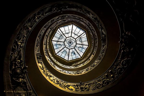 vatican stairwell