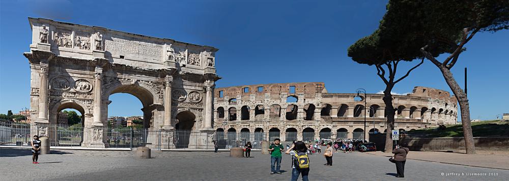 coliseum and arche in rome