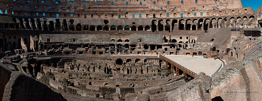 inside the roman coliseum