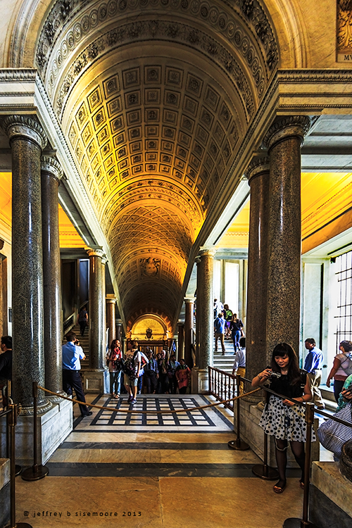 vatican halls and stairs