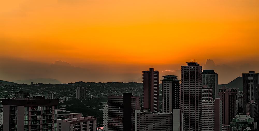 as dawn breaks
