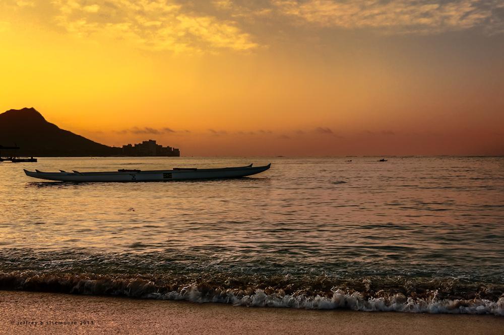 sunrise in waikiki II