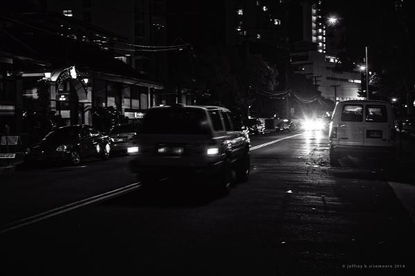 oncoming lights