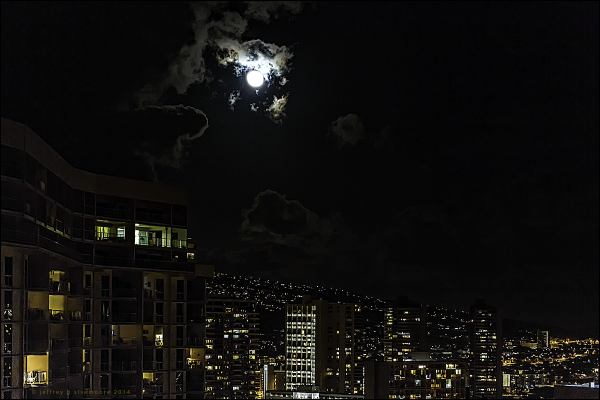 on the night of a full moon